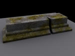broken tomb stone