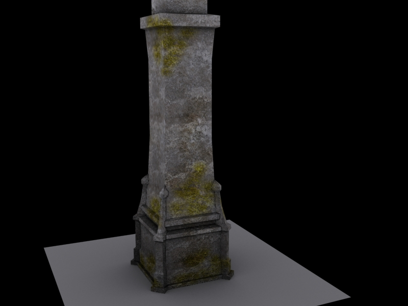 Broken Stone Pillar : Environment models jackie siu