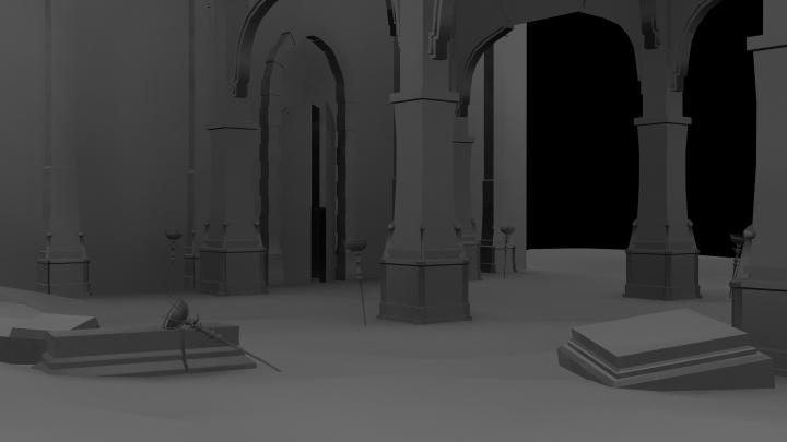 Broken Stone Pillar : Exterior jackie siu